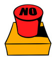 no red button icon cartoon vector image vector image