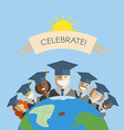 people world graduation and education vector image vector image