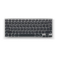 realistic desktop keyboard mockup 3d black vector image