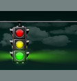 realistic traffic lights with green lamp on vector image vector image