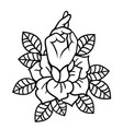 rose tattoo with hand art vector image vector image