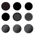 set black price tags on white background black vector image vector image