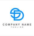 simple sd initials company logo vector image