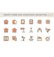 smart homes and voice activated personal vector image