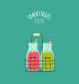 smoothies vector image vector image