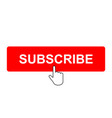 subscribe button with mouse pointer vector image vector image