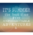 Summer adventures poster vector image