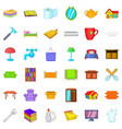 sweet house icons set cartoon style vector image vector image