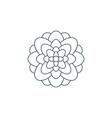thin line flower logo vector image vector image