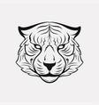tiger icon logo vector image vector image