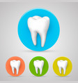 tooth set color collection template design vector image vector image