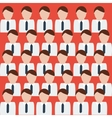 White collar army vector image