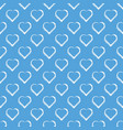 white hand draw hearts on sky blue background vector image vector image