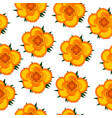 yellow roses seamless pattern background vector image vector image