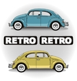 Concept retro cars vector image
