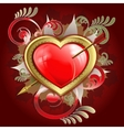 red heart pierced with an arrow vector image