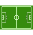 Soccer field or football pitch vector image
