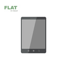 Flat PC tablet isolated on white vector image