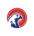 eagle heads with circle logo image vector image