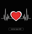 abstract heart line vector image vector image
