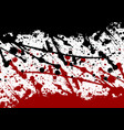 abstract paint splatter black and red color vector image vector image