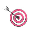 arrow with target board to play vector image