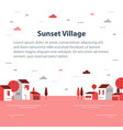 autumn season in small town tiny village view vector image vector image