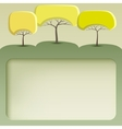Banner with abstract trees vector image vector image