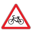 bicycle sign in white background vector image vector image