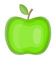 Big green apple icon cartoon style vector image