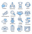 business management icons in line style pack 03 vector image vector image