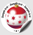 Christmas bauble sticker vector image