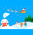 christmas landscape card vector image