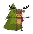 christmas season cartoons vector image vector image