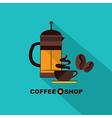 Coffee icon menu Flat design for menu coffee shop vector image vector image