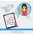 Concept work of tax inspector vector image vector image