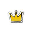 crown doodle icon vector image vector image