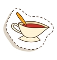 Cup of fresh hot tea vector image