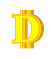 d letter bitcoin font cryptocurrency alphabet vector image vector image