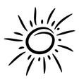 design elements funny doodle sun vector image vector image