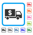 dollar delivery framed icon vector image vector image