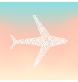 Doodle plane silhouette vector image vector image