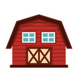 farm house in cartoon style isolated on white vector image
