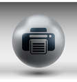 fax icon design printer document print vector image vector image