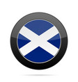 flag of scotland shiny black round button vector image