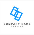 geometric s pp psp initials company logo vector image vector image