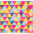Geometry pattern of colorful triangle with texture vector image vector image