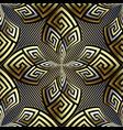 Gold 3d greek seamless pattern striped geometric