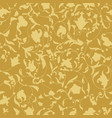 golden endless background with floral vector image vector image
