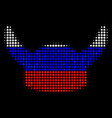 halftone russian horned helmet icon vector image vector image
